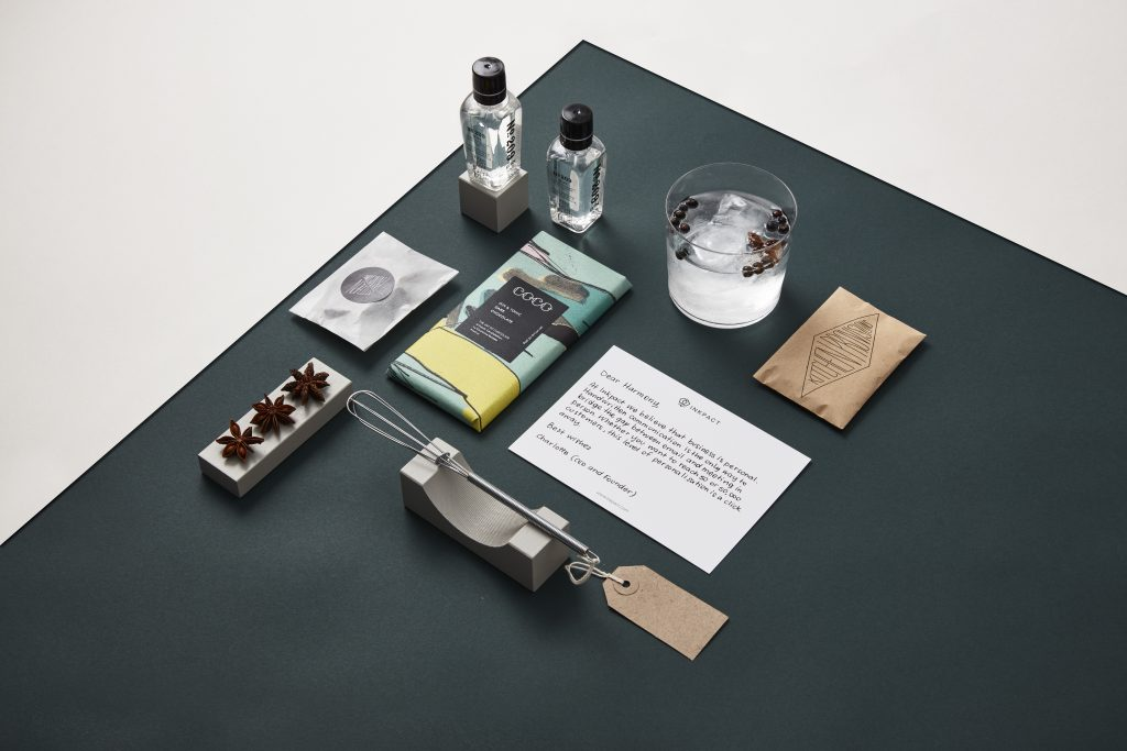 An example of a Corporate Gift Collection with a Handwritten Note